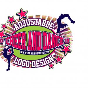 CHEER AND DANCE ADJUSTABLE VECTOR LOGO DESIGN FOR PRINT AI EPS PDF PSD 501