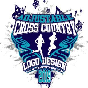 CROSS COUNTRY VECTOR LOGO DESIGN FOR PRINT AI EPS PDF 605