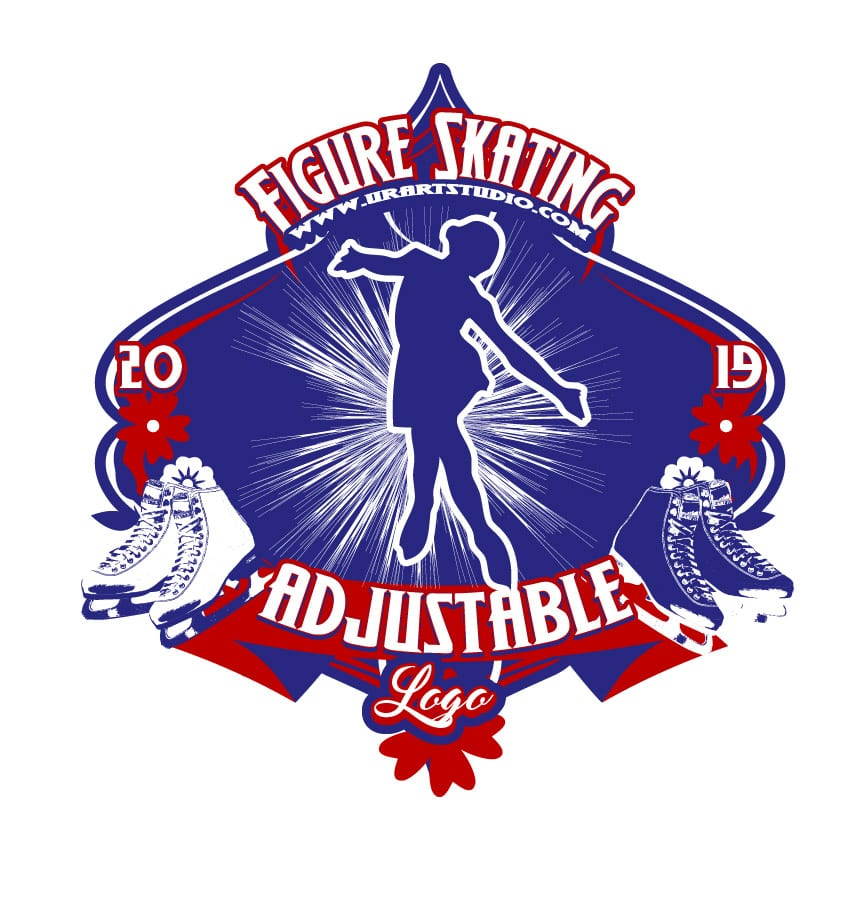 FIGURE SKATING ADJUSTABLE LOGO DESIGN 670