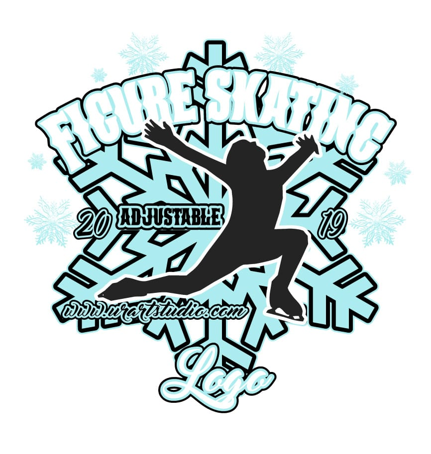 FIGURE SKATING ADJUSTABLE LOGO DESIGN 672
