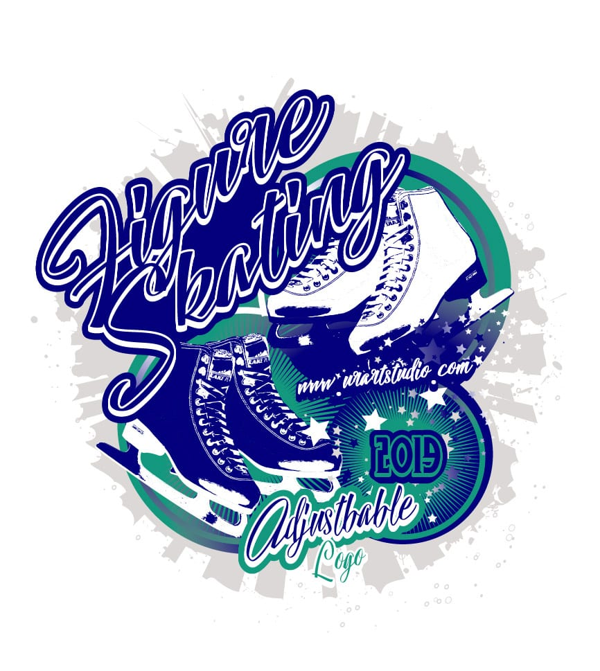 FIGURE SKATING ADJUSTABLE LOGO DESIGN 674