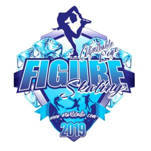 FIGURE SKATING ADJUSTABLE LOGO DESIGN 678