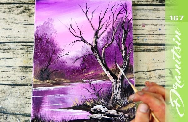 EXCLUSIVE, Quiet Night, relaxing and satisfying acrylic painting demonstration, 167