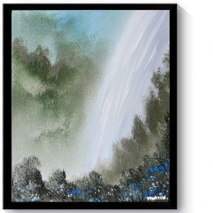'Waterfall' - soft blending techniques using oval brush, acrylic painting demonstration, 089