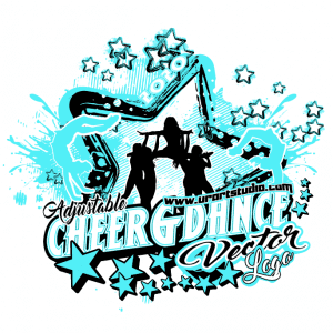 CHEER AND DANCE Adjustable Vector Logo Design with Live Font 302