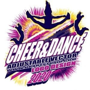 CHEER AND DANCE ADJUSTABLE VECTOR LOGO DESIGN FOR PRINT 0101