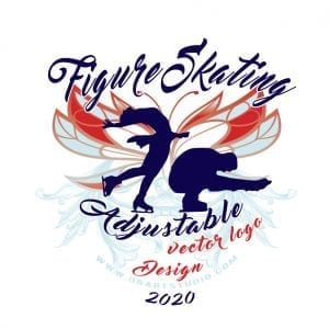 FIGURE SKATING ADJUSTABLE LOGO DESIGN FOR PRINT 0101