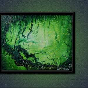 UNIQUE PAINTING APPROACH, swamp, tree, fireflies, magic, OVAL BRUSH TECHNIQUE, 139
