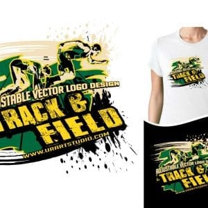 TRACK AND FIELD ADJUSTABLE VECTOR LOGO DESIGN FOR PRINT 0022
