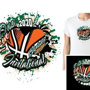 BASKETBALL ONE LOVE ADJUSTABLE VECTOR LOGO DESIGN FOR PRINT 0022.eps