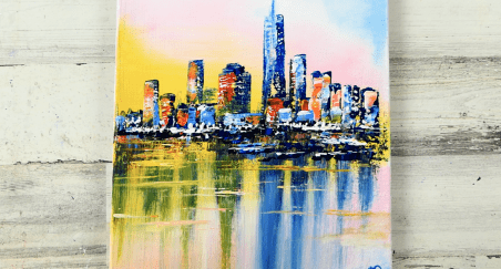 How to paint beautiful cityscape in Abstract Style