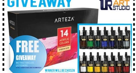 free acrylic paint giveaway