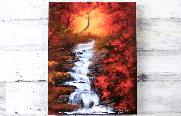 beautiful waterfall painting by Dranitsin