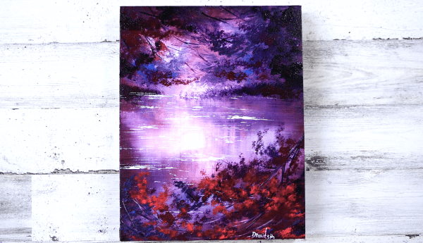 Magical purple landscape
