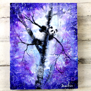 Abstract-Landscape-Panda-on-a-Tree-Easy-Painting-for-Beginners-Palette-Knife-Texture