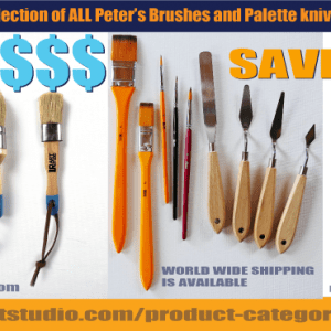 ENTIRE 16 PIECE SET OF BRUSHES AND PALETTE KNIVES BY URARTSTUDIO