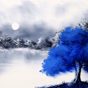 Blue Tree painting by Dranitsin