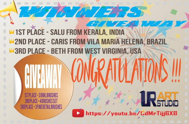 giveaway winners paint brushes