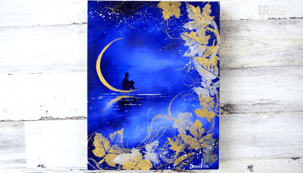 Man on the Moon painting by Dranitsin