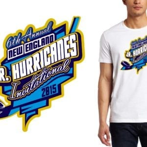 2015 6th Annual New England Jr. Hurricanes Invitational LOGO DESIGN