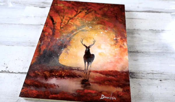 Autumn Landscape | Easy Painting For Beginners | Abstract Art | Acrylics4