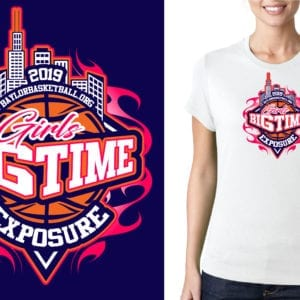 Girls Big Time Exposure logo design