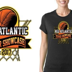 Mid Atlantic Super Showcase basketball LOGO DESIGN