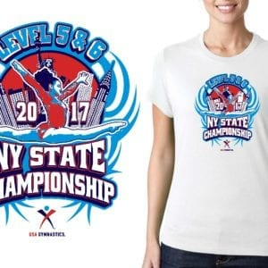 2017 Level 5 6 NY State Championship gymnastics LOGO DESIGN