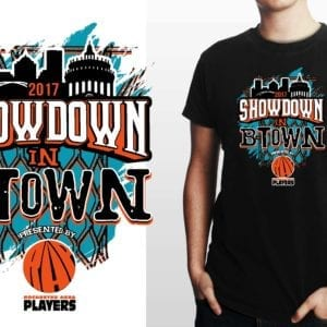 2017 SHOWDOWN IN BTOWN basketball LOGO DESIGN