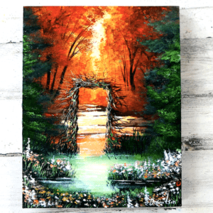 exclusive art video tutorial by Peter Dranitsin Window to Autumn Acrylics1