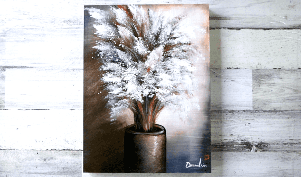 Beautiful White Flowers in Vase | Abstract | Easy Painting for Beginners | Acrylics2