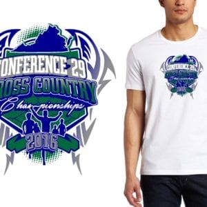 PRINT 16 Conference 29 Cross Country Championships cross country logo design