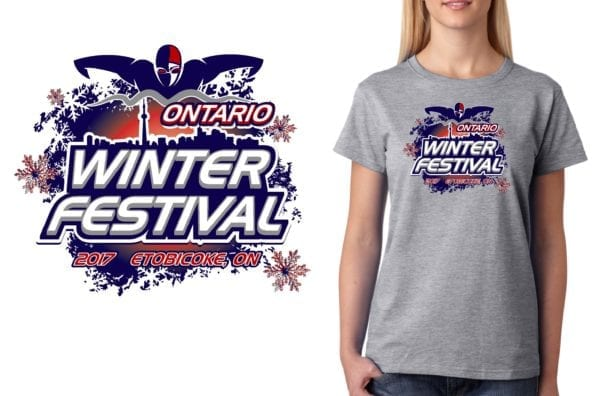 PRINT 2017 Swim Ontario Winter Festival swim logo design