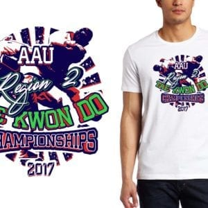 PRINT 2017 Region 2 AAU Tae Kwon Do Championships martial arts logo design