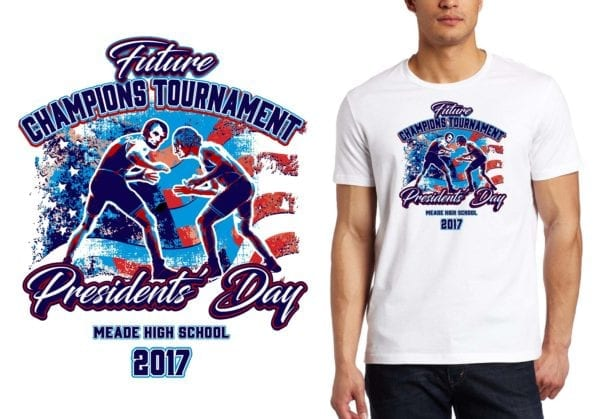 PRINT 2017 Future Champions Tournament wrestling logo design