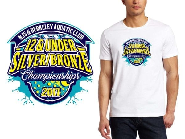 PRINT 2017 NJS Berkeley Aquatic Club 12 & Under Silver Bronze Championships logo design