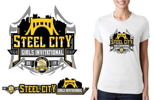PRINT 2017 Steel City Girls Invitational logo design