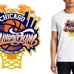 PRINT 2019 Chicago Summer Jam IL Basketball logo design