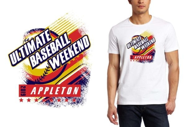 PRINT 2019 Ultimate Baseball Weekend IL BASEBALL logo design