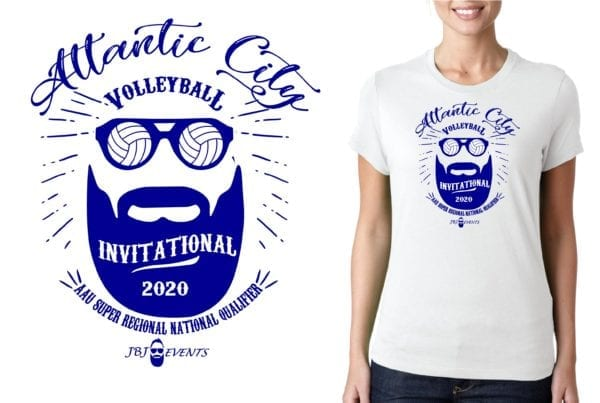 Atlantic City Invitational volleyball logo design