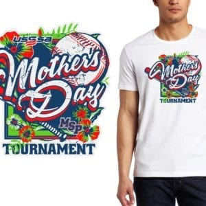 PRINT Mothers Day Tournament logo design