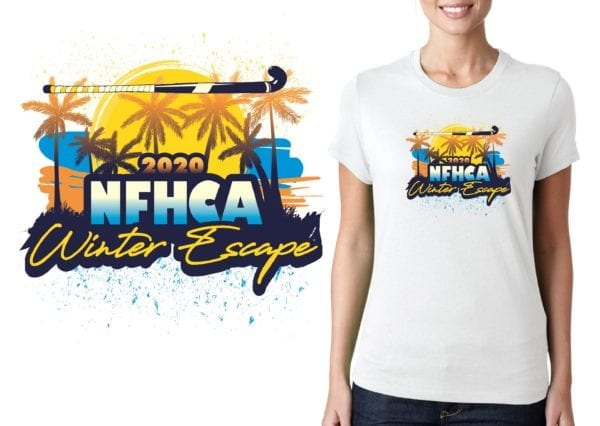 PRINT NFHCA Winter Escape logo design