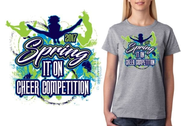 PRINT URGENT 2017 Ultimate Cheers Spring It On cheer logo design