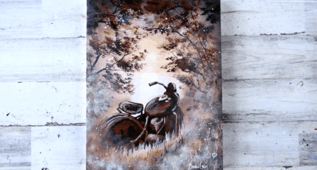 Painting-Challenge-Rusted-Motorcycle-Abstract-Landscape-Art-Acrylics1