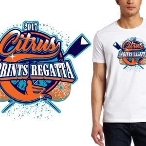 PRINT 1 21 17 Citrus Sprints Regatta rowing logo design