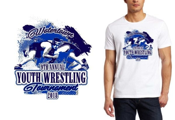 PRINT 2018 9th Annual Watertown Youth Wrestling Tournament logo design
