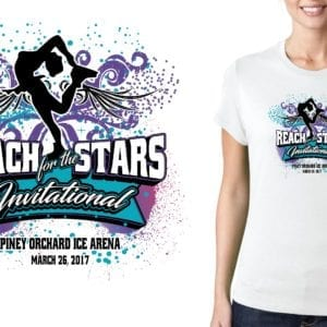 UPDATED PRINT 2017 Reach for the Stars skating logo design