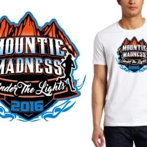 Mountie Madness Under the Lights Jeff Dempsey cross country LOGO DESIGN
