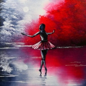 balerina 1 abstract landscape painting by Peter Dranitsin
