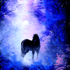 Horse in the Fog | Abstract Landscape | Easy for Beginners 2